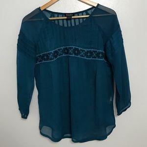 Lucky brand blue blouse